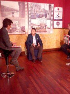 Ospite alla trasmissione sul canale Tremedia per parlare di comunicazione politica